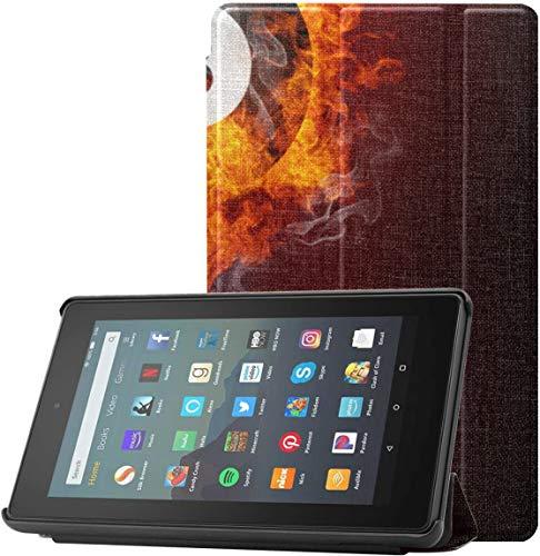 Funda para Tableta Fire 7 Billiards en la Mesa de Fieltro Rojo Funda para Kindle Fire 7 para Tableta Fire 7 (novena generación, versión 2019) Ligera con Reposo automático/activación