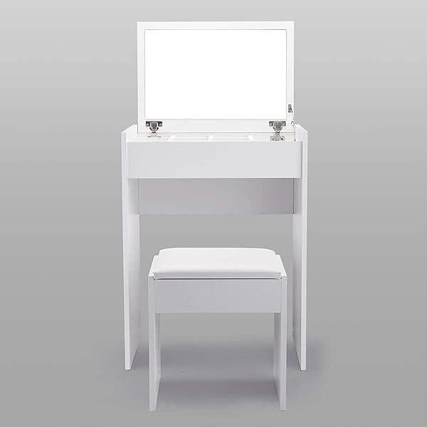 梳妆台梳妆台 W 翻盖镜子白色