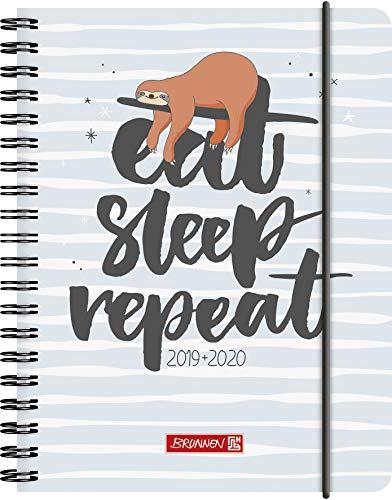 "BRUNNEN 1072965030 ""Fauli"" , Schülerkalender/Wochenkalender 2019/2020 , 2 Seiten = 1 Woche , Blattgröße 12 x 16 cm  , A6 , PP-Einband"