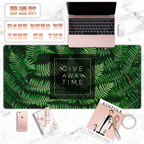 Tapis de souris, lettres de plantes vertes fraîches simples et créatifs surdimensionnés imperméable rembourré tapis de souris pad clavier meubles bureau étudiant cadeau de tapis de table, 3
