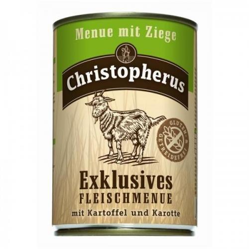 6 x Allco Christopherus Menue mit Ziege 800 g, Hundefutter, Nassfutter