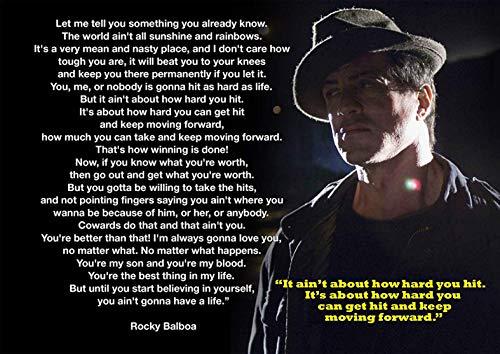 'Rocky Balboa 3de motivación de cajas de Greatest Glory Póster, A3