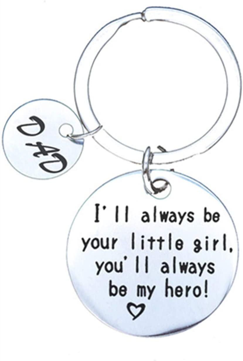 I Love You Dad Keychain Dad Pendant Keychain Father's Day Gift Keyrings Set Birthday Christmas Gift for Father Dad Daddy