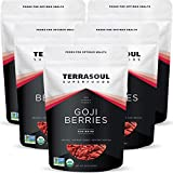 Terrasoul Superfoods Organic Goji Berries, 5 Lbs (5 pack) - Large Size | Chewy Texture | Premium Quality | Lab-Tested
