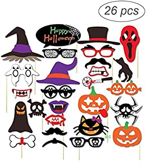 Party Diy Decorations - 26pcs Halloween Trick Photo Booth Props - Decorations Party Party Decorations Coffin Halloween Frame Photo Booth Classic Witch Funny Feather Wolf Christmas Photobooth