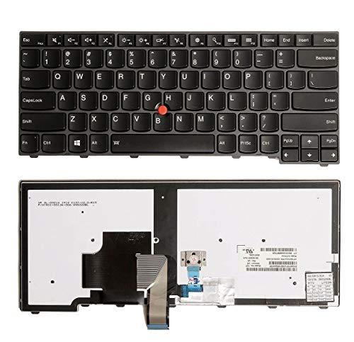 Teclado para computadora portátil Nuevo reemplazo de teclado retroiluminado para computadora portátil Lenovo ThinkPad Edge E431 E440 Lenovo ThinkPad L440 T431s T440 T440p T440s, diseño de EE. UU. Colo