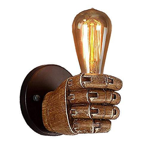 lampada a parete vintage NIUYAO Industriale Lampade da Parete Illuminazione a Mano Vintage Mini Luce a Muro Illuminazione per Interni Marrone- Mano destra