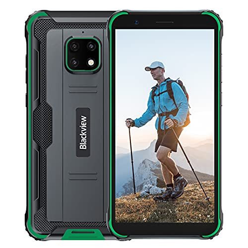 Blackview BV4900 Pro Rugged Smartphone (2020), IP68 Impermeabile, Dual SIM 4G Android 10.0 Cellulare Militare HD+ da 5,7 Pollici, 4GB RAM+64GB ROM 128 GB Expandable, 5580mAh, NFC,GPS (verde)