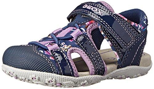 Geox B Sandal Roxanne A, Scarpe Primi Passi Bambina, Blu Navy Lilacc4215, 27 EU