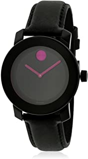 Movado Bold Black Pink Dial Ladies Women's Watch 3600482