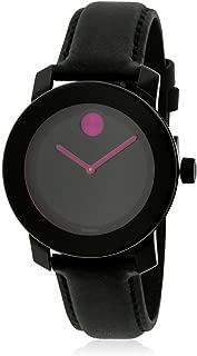 Bold Black Pink Dial Ladies Women's Watch 3600482