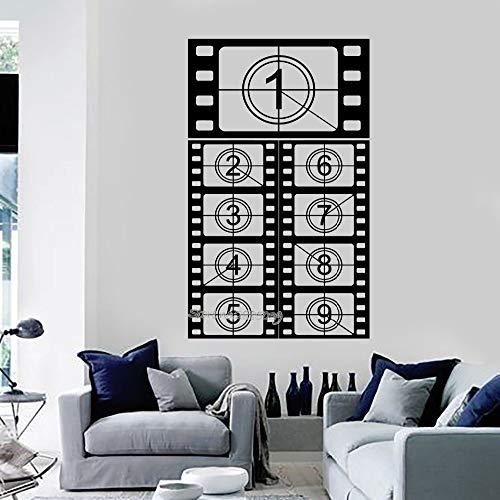 Kinofilm mit Vinyl-Wandaufkleber, Motiv: Kino, Schießen, Kunstaufkleber, Sofa-Hintergrunddekoration, Wandaufkleber, 42 x 73 cm