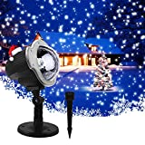 Christmas Light Projector, Rotating Snowfall Projection Lamp Outdoor Decorative Dynamic Landscape Spotlight Waterproof for Party Holiday Garden Patio Wedding Indoor Outdoor Decor