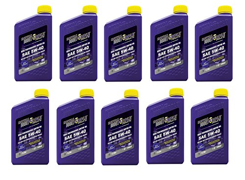 Royal Purple API Licensed Enhanced Additive Technology Synthetic Motor Oil 5W-40 - Fuel Efficiency - 1 qt (Pack of 10)