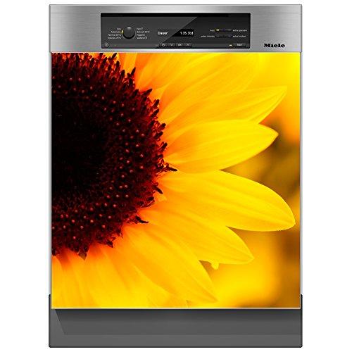 SHIRT-TO-GO Aufkleber für Spülmaschinen Geschirrspüler - Motiv Sonnenblume