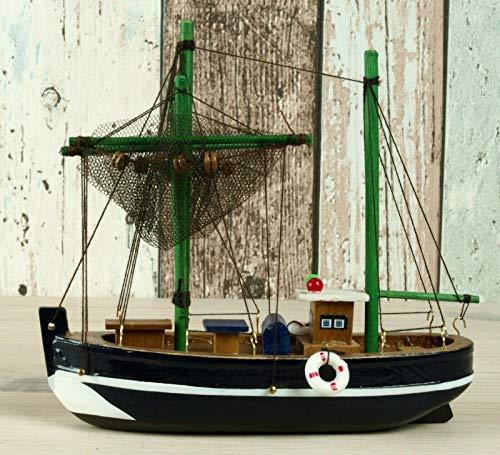 Küstenambiente Maritime Deko Krabbenkutter Fischkutter Kutter blau 16cm Boot
