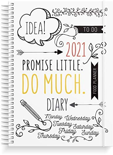 Doodle Planner 2021 Diary from Burde | 14 December 2020 to 9 January 2022 | Creative Weekly Planner for 2021 | High Quality 120g Paper | 325 Stickers Included