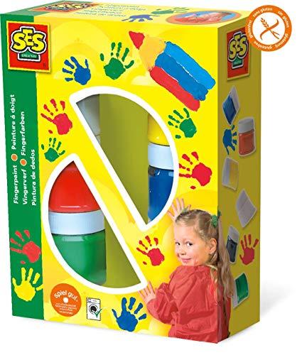SES creative 00306 - Fingerfarbe 6 Farben je 50 ml