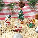 Baoer Decoración de acuario de Navidad, pecera, adorno de acuario de serie de Navidad, decoración de paisajismo, árbol de Navidad, muñeco de nieve de Papá Noel