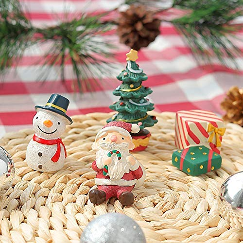 Baoer Christmas Aquarium Decoration,Fish Tank Aquarium Ornament Christmas Series Landscaping Decor,Christmas Tree Santa Snowman