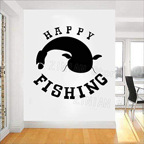 yaonuli Jagd wandaufkleber wandmalereien höhlen Dekoration Wohnzimmer Dekoration Angeln Hobby männer Fisch Vinyl Wand decoration45x42cm