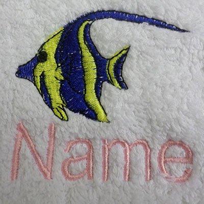 EFY Peignoir à capuche pour enfant avec logo Angel Fish Rose 2, 4, 6, 8, 10 ou 12 ans