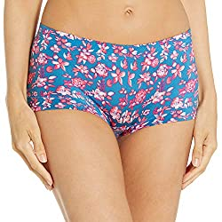 professional Maidenform Ladies Boys Short Briefs Spring Floral / Blue Delight 7
