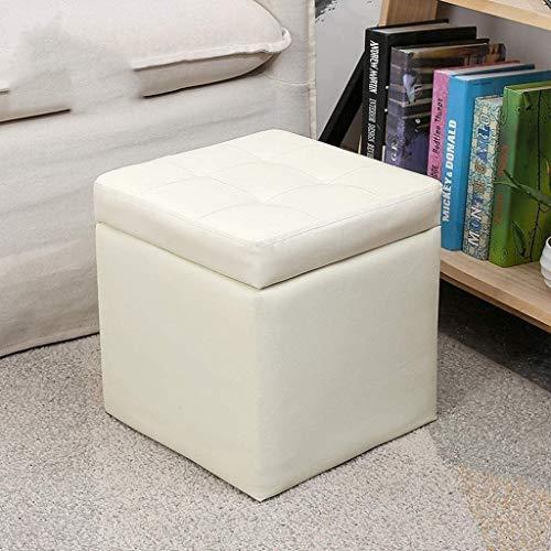 Aoyo Plegable, reposapiés Cubo En Eco-Cuero, del Pecho con la Esponja de Alta Elasticidad de Rellen