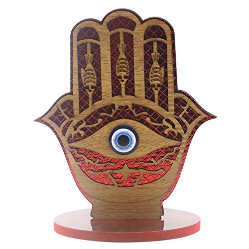 jmk Colgante de madera Eid Mubarak, adorno de madera con forma de mano de Eid Al-Fitr, adorno islámico de Ramadán (JM01831)