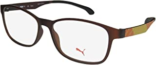 Puma 15441 Mens/Womens TIGHT-FIT Designed for Jogging/Cycling/Sports Activities Eyeglasses/Eye Glasses
