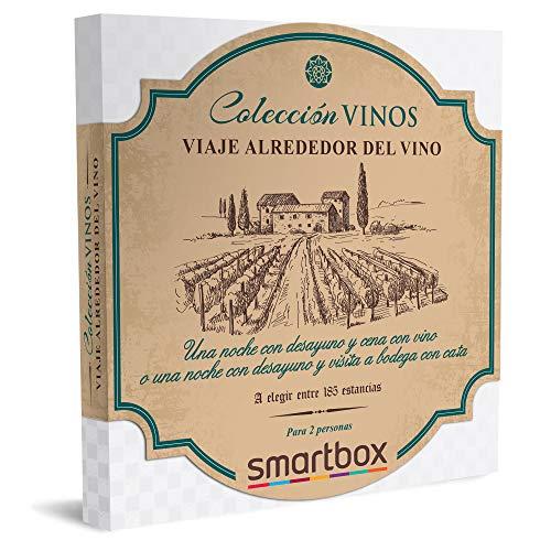 Smartbox - Caja Regalo Amor para Parejas - Viaje Alrededor del Vino - Ideas Regalos Originales - 1 Noche con Desayuno y Cena con Vino Incluido o Visita a Bodega y cata para 2 Personas
