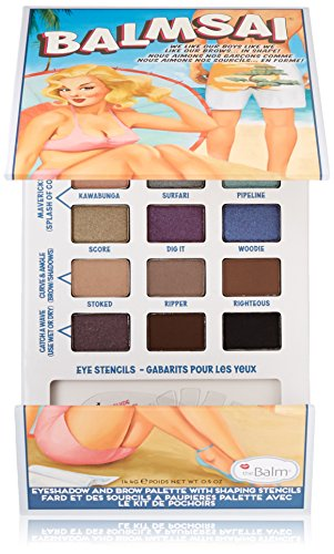 theBalm Balmsai Eyeshadow and Brow Palette with Shaping Stencils - 18 Colors