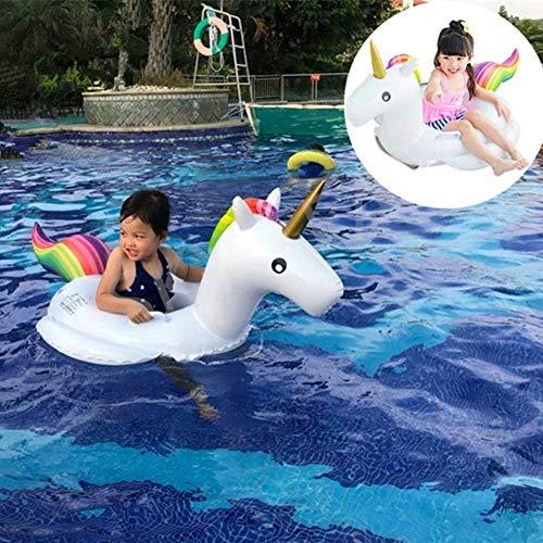SKY TEARS Baby Einhorn Schwimmring Badespielzeug Aufblasbares Schwimmtier Aufblasbar Schwimmen Flo? PVC Aufblasbarer Schwebebett (Baby Schwimmring)