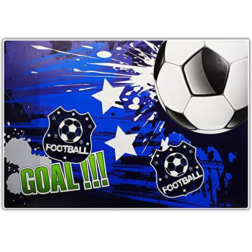 alles-meine.de GmbH XL große - Schreibtischunterlage / Unterlage - Fußball - Football Goal - 60 cm * 40 cm - abwischbar - Schreibunterlage - Tischunterlage / Knetunterlage / Bast..