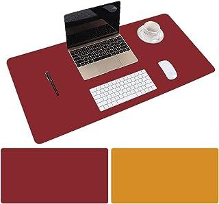 Leather Desk Mat Protective Cover, Mouse Pad, Double Sided Color Non-Slip PU Leather Desk Mat, Laptop Desk Mat, 80 x 40cm ...