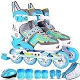 LXLTLB Profesionales Patines en Línea para Patines de Ruedas de una Hilera para Adultos Zapatos de Patinaje de Velocidad para Deportes Fitness para Hombres y...
