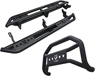 Tyger Auto Star Armor & Bumper Guard Combo for 10-19 Toyota 4Runner Trail Edition | Bull Bar | Grille Guard | Running Boards | Nerf Bars