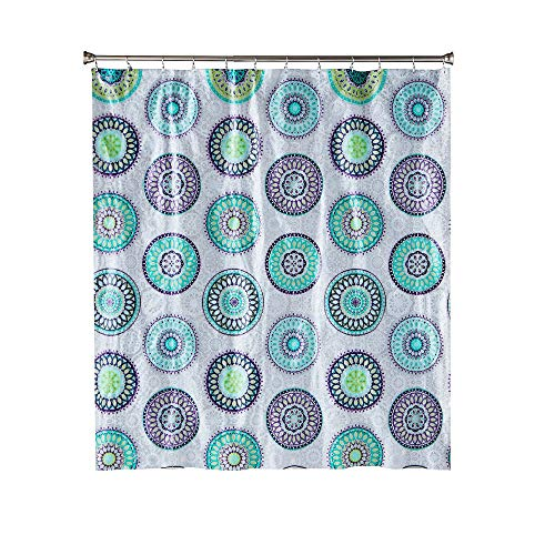SKL Home by Saturday Knight Ltd. Filigree Medallion Vinyl Shower Curtain, Purple