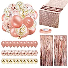 【GREAT VALUE PACKAGE】Rose gold is a stylish and noble color. Decorate your party event with the Rose Gold Party Decorations, which will definitely appear to be splendid at your party. This Rose Gold Decorations Kit contains 4 popular rose gold decora...
