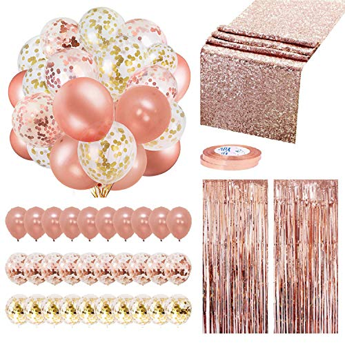 Rose Gold Balloons Party Decoration…