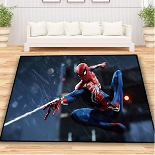Teppich Rechteck Schlafzimmer Wohnzimmer Esszimmer Junge Zimmer Persönlichkeit Anime Cartoon Spiderman Teppich Kreative Büro Zimmer Wilder Teppich
