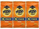 Mini Cheddars sabor original Jacobs aperitivos crujientes 3 paquetes de múltiples al menos 18 bolsas ideal para la escuela, almuerzo, picnic, viajes en coche
