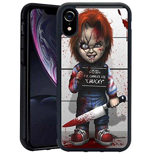 for iPhone XR Case,Chucky Scary Doll Horror Design Soft TPU for iPhone XR 6.1 Inch (2018) - Black