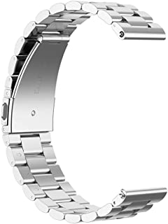 Longshow Stainless Steel Strap Replacement Wristband 20mm for Timex Weekender Expedition Watch