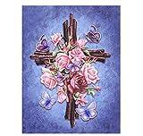 5D Diamante Pintura Punto de cruz Diy Mosaico Bordado Partituras y violín Regalo de vacaciones 40X50Cm