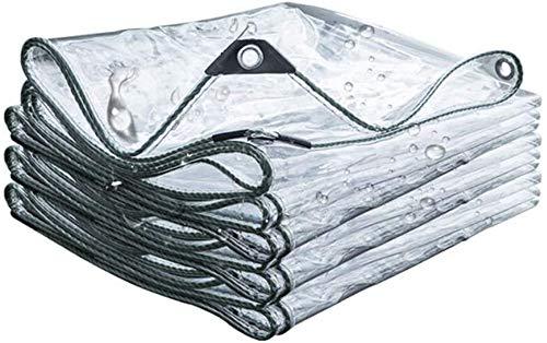 Lona Alquitranada Impermeable,Lona Impermeable Transparente con Ojal,Cubierta De Hoja De Pérgola Gruesa para Trabajo Pesado, para Plantas De Invernadero Al Aire Libre(4 * 4m(13.1 * 13.1ft))