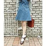 フィント(FINT) ポケット使いデニム台形スカート/F i.n.t【BLUE/F 】