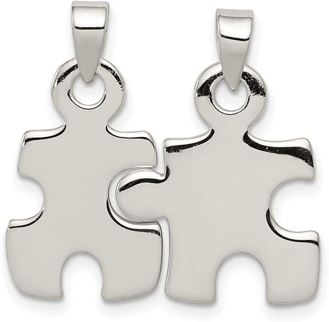 Autism Awareness Puzzle Limited Special Price Pieces Pendant Credence 925 Sterling In Silver