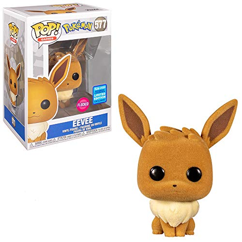 POP Funko Pokemon 577 Eeve Flocked Funko 2020 Wondrous Convention