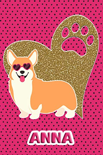 Corgi Life Anna: College Ruled | Composition Book | Diary | Lined Journal | Pink